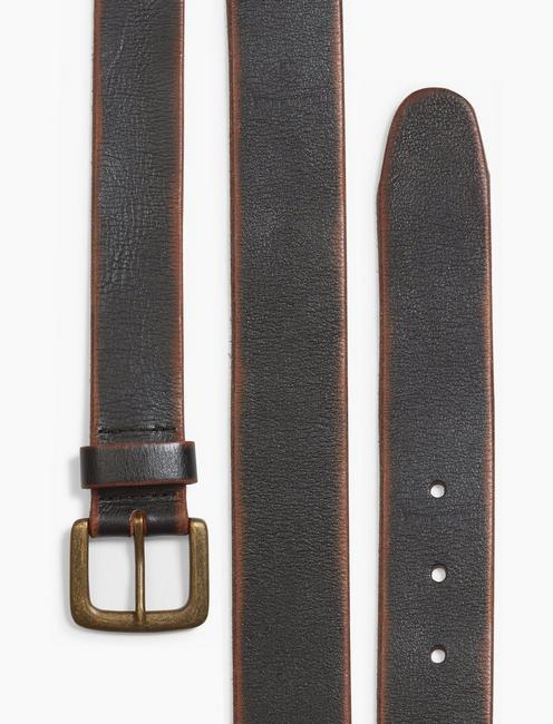 SANTA FE LEATHER BELT, BLACK