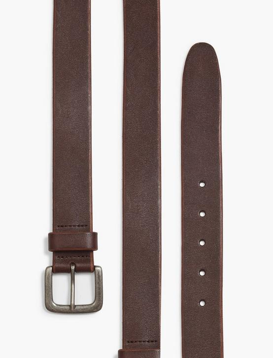 SANTA FE LEATHER BELT, MEDIUM BROWN, productTileDesktop