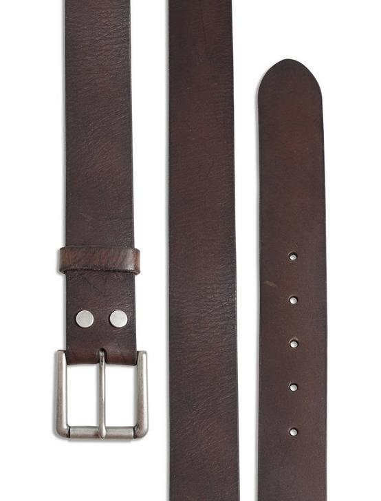 HIGHLAND LEATHER BELT, CHOCOLATE, productTileDesktop