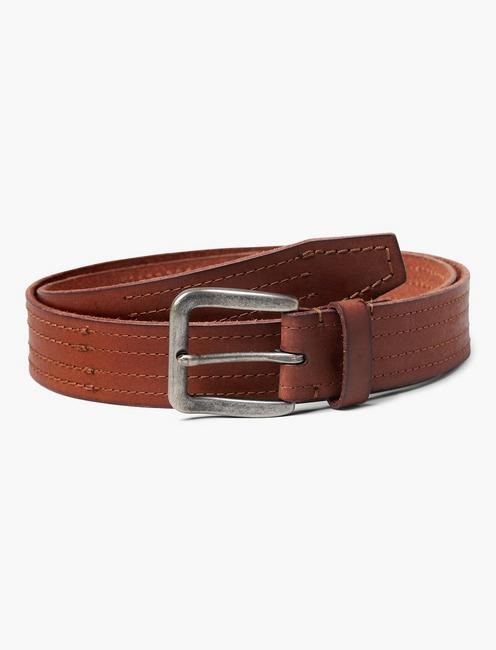 STITCHED LEATHER BELT,