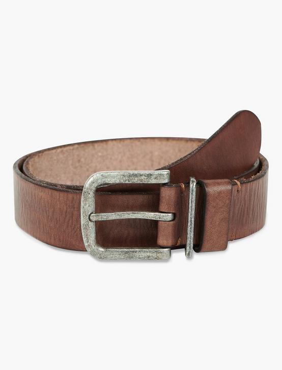 BROWN LEATHER BELT, CHOCOLATE, productTileDesktop
