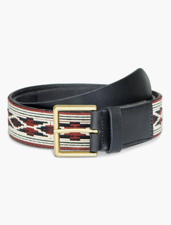 NOVELTY JACQUARD BELT, BLACK, productTileDesktop