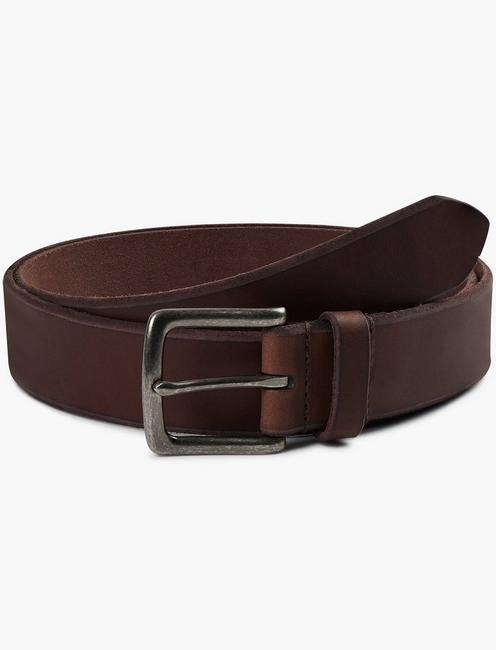 BRIDLE LEATHER BELT, CHOCOLATE
