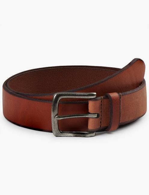 BRIDLE LEATHER BELT, COGNAC