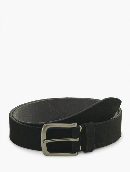 CLEAN SUEDE BELT, BLACK, productTileDesktop