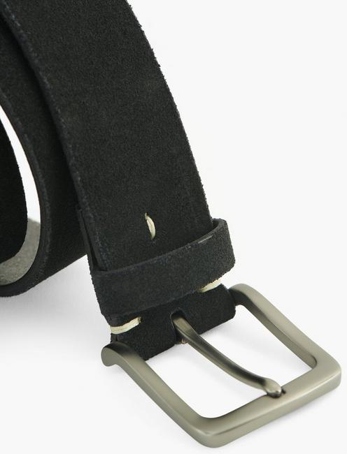 CLEAN SUEDE BELT, BLACK
