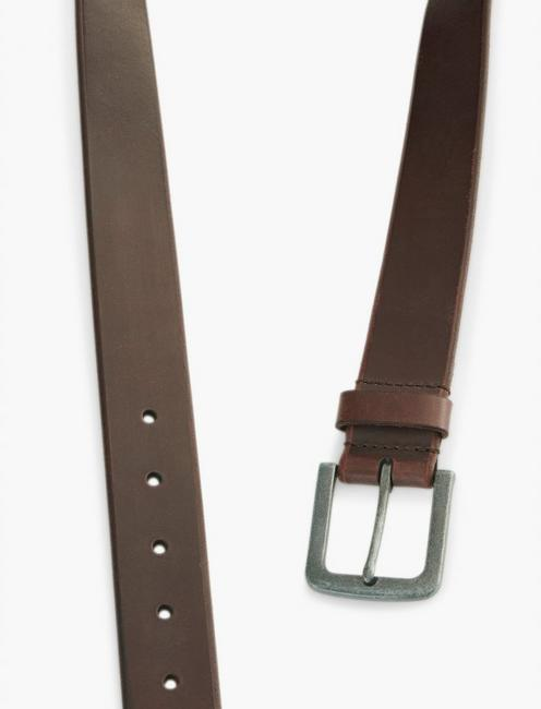 BRIDLE LEATHER BELT, OX BLOOD
