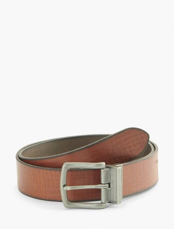 REVERSIBLE LEATHER BELT, BLACK AND BROWN, productTileDesktop