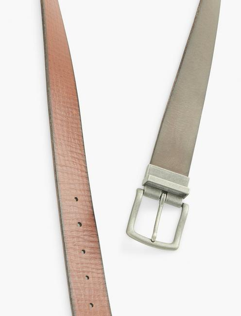 REVERSIBLE LEATHER BELT, BLACK AND BROWN