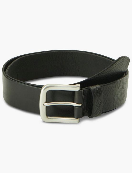 EMBOSSED LOOP PEBBLE BELT, BLACK, productTileDesktop