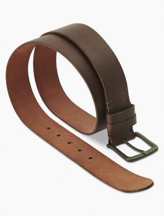 DOUBLE LOOP BRIDLE BELT, BROWN, productTileDesktop