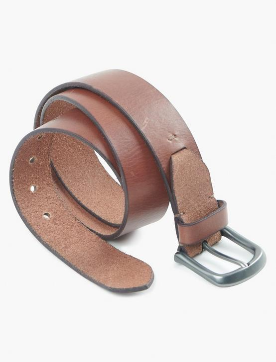 DISTRESSED LEATHER BELT, SADDLE TAN, productTileDesktop