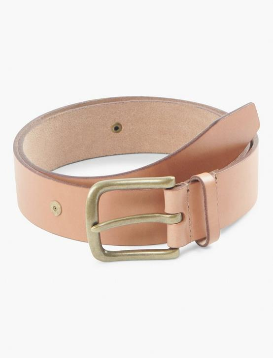 RIVET LEATHER BELT, NATURAL, productTileDesktop