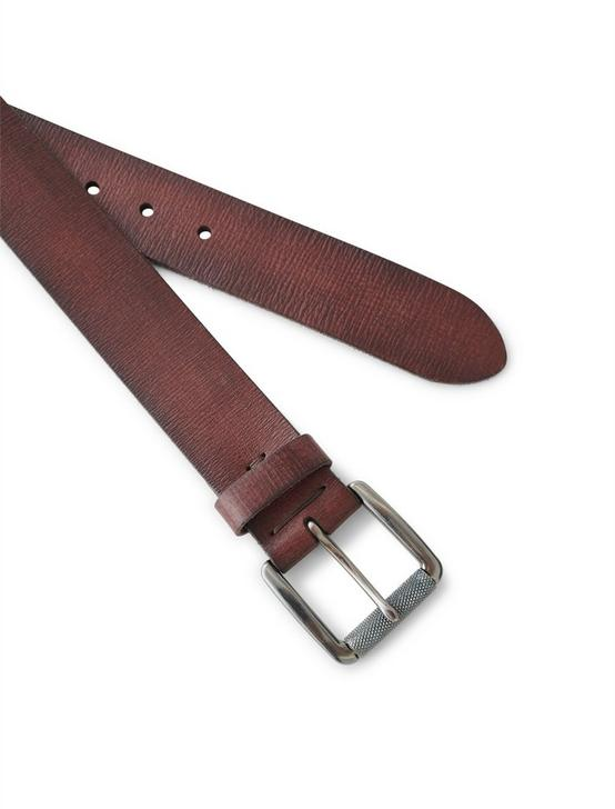 MEN'S WASHED LEATHER BELT, MEDIUM DARK BROWN, productTileDesktop