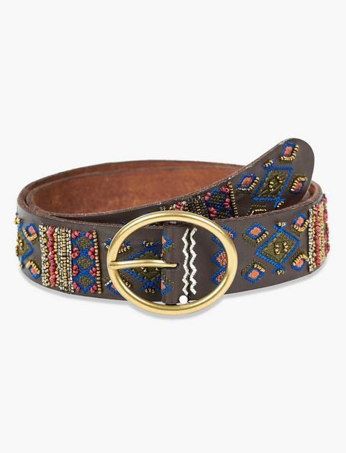 BEADED EMBROIDERY BELT,