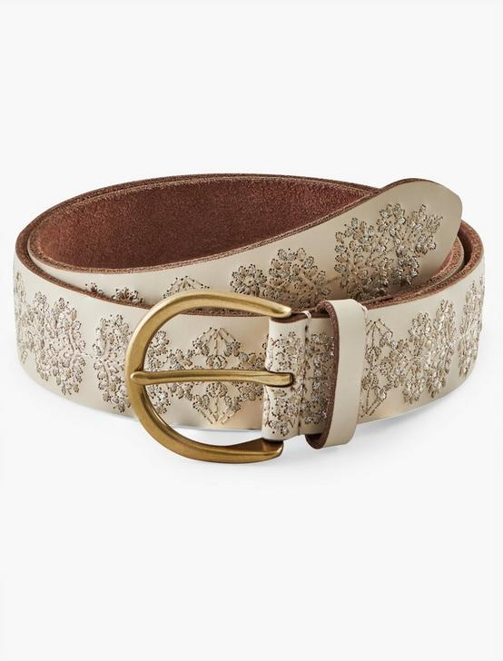 FLORAL EMBROIDERED BELT, CREAM, productTileDesktop