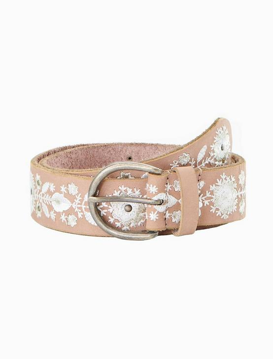 FLORAL EMBROIDERED BELT, NEUTRAL, productTileDesktop