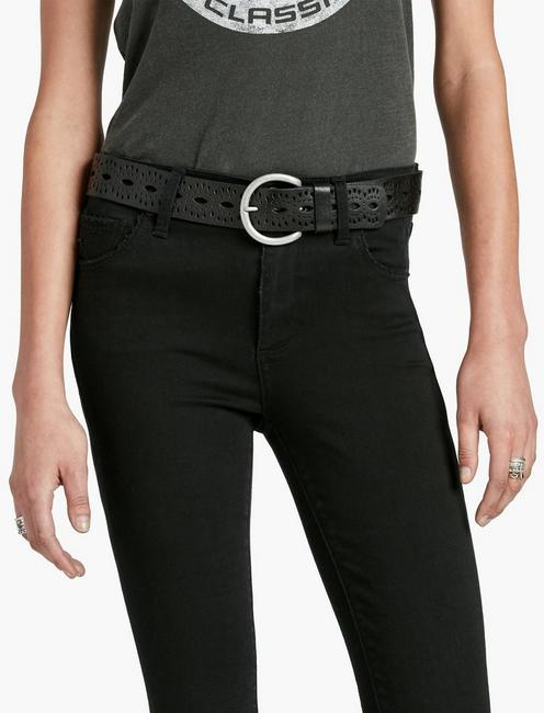 BEACHWOOD CUTOUT BELT, BLACK