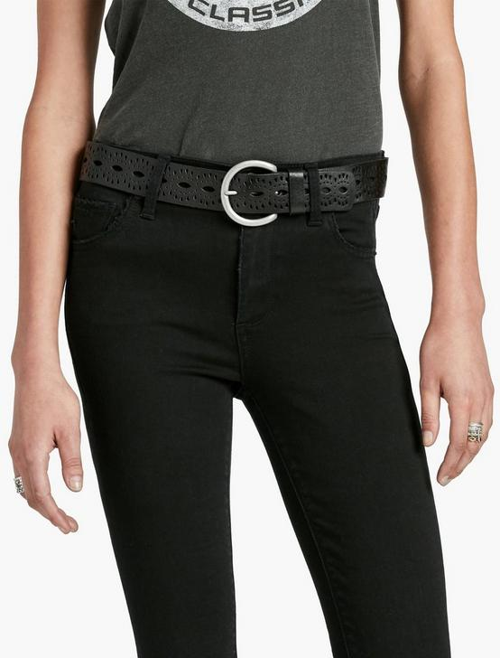 BEACHWOOD CUTOUT BELT, BLACK, productTileDesktop