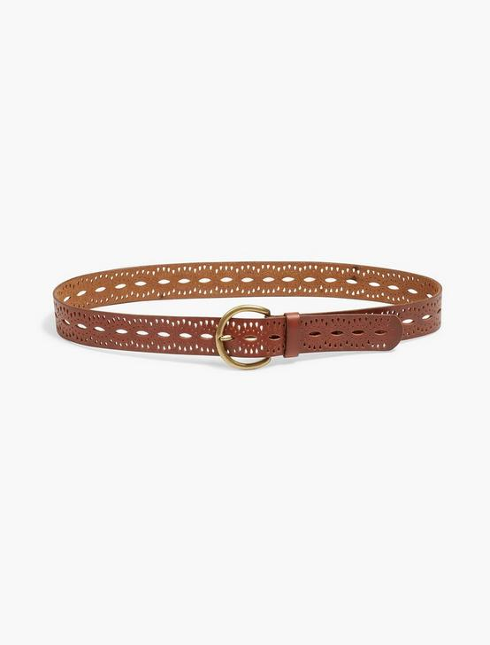 BEACHWOOD CUTOUT BELT, MEDIUM BROWN, productTileDesktop