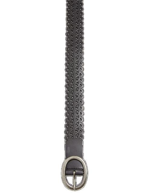 LACE PERFORATED BELT, BLACK