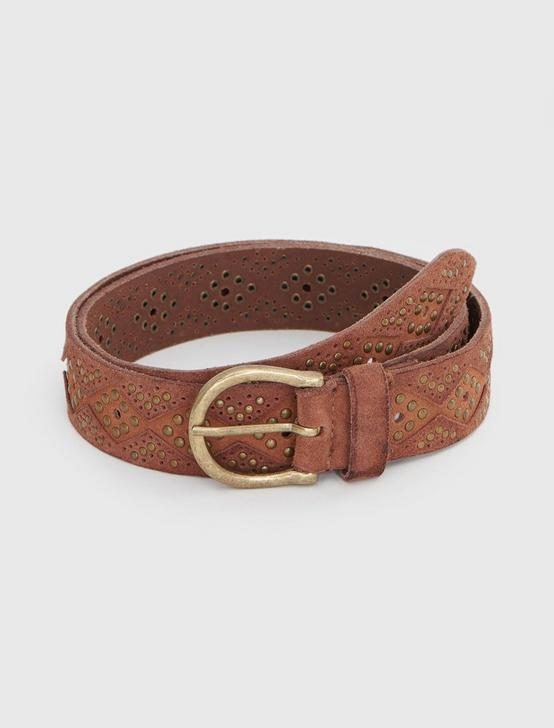 DIAMOND SUEDE BELT
