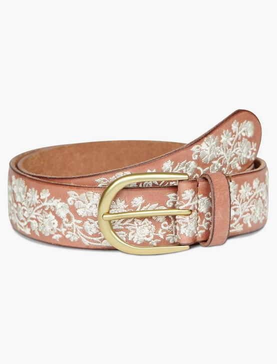 CREAM FLORAL EMBROIDERED BELT, CREAM MULTI, productTileDesktop