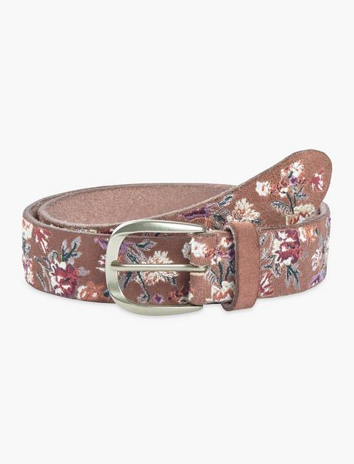 Multi Floral Embroidered Belt