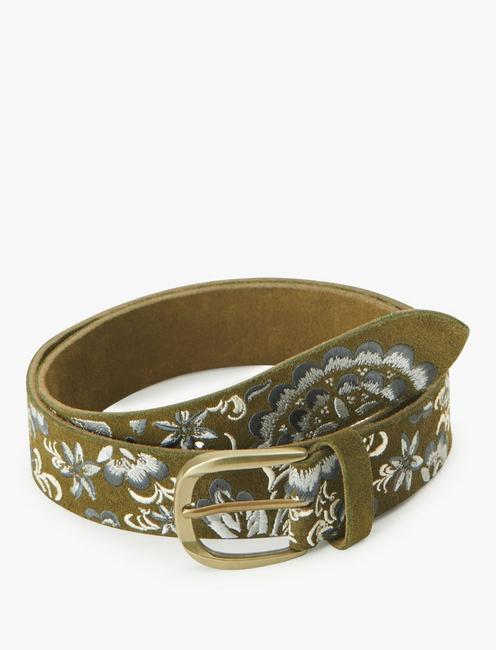 FLORAL EMBRIODERED BELT, MULTI