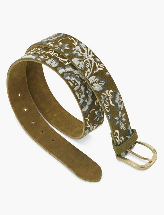 FLORAL EMBRIODERED BELT, MULTI, productTileDesktop