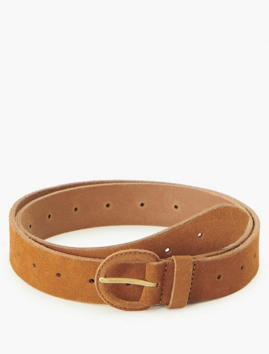 SOLID DRESS BELT, BROWN, productTileDesktop