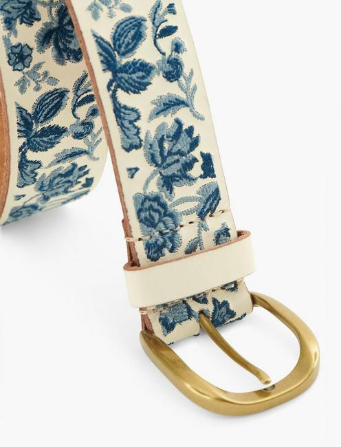 BOTANICAL EMBROIDERY BELT, MULTI