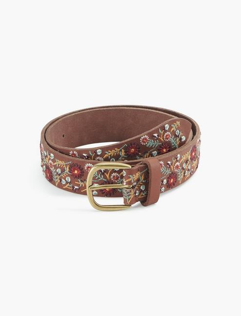 FLORAL EMBROIDERED BELT, MULTI