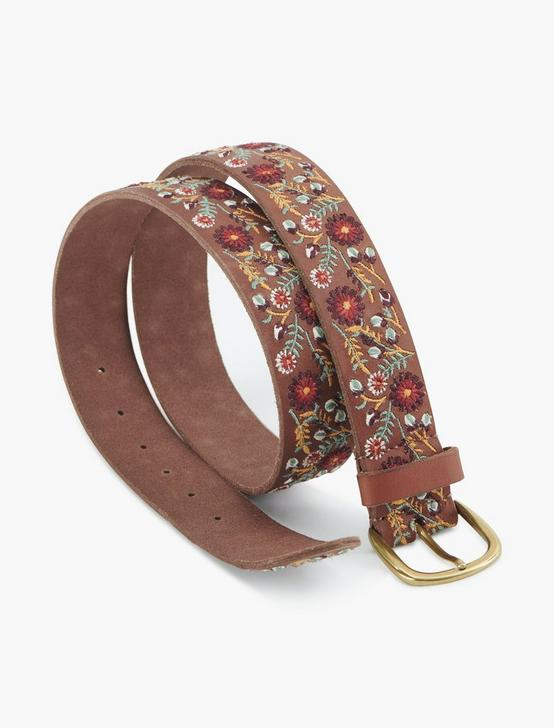 FLORAL EMBROIDERED BELT, MULTI, productTileDesktop