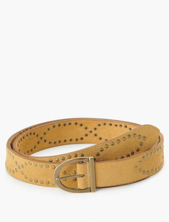 STUDDED BELT, TAUPE, productTileDesktop