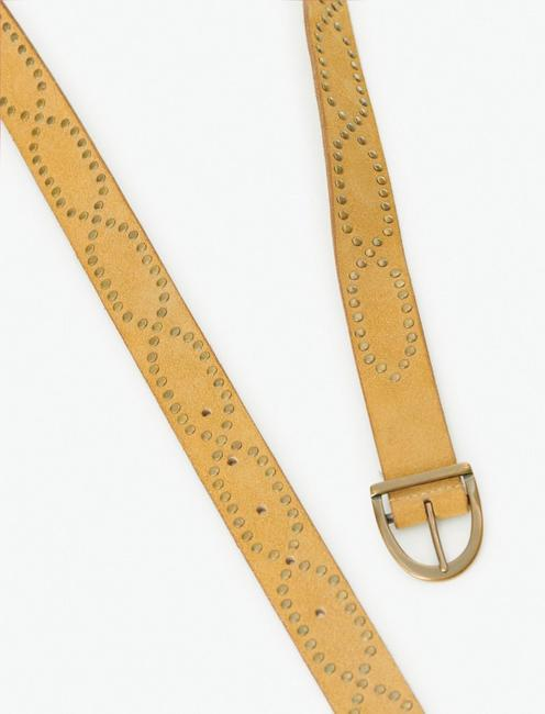 STUDDED BELT, TAUPE