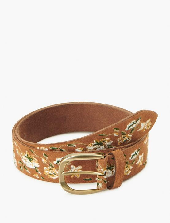 FLORAL VINES EMBROIDERED BELT, MULTI, productTileDesktop