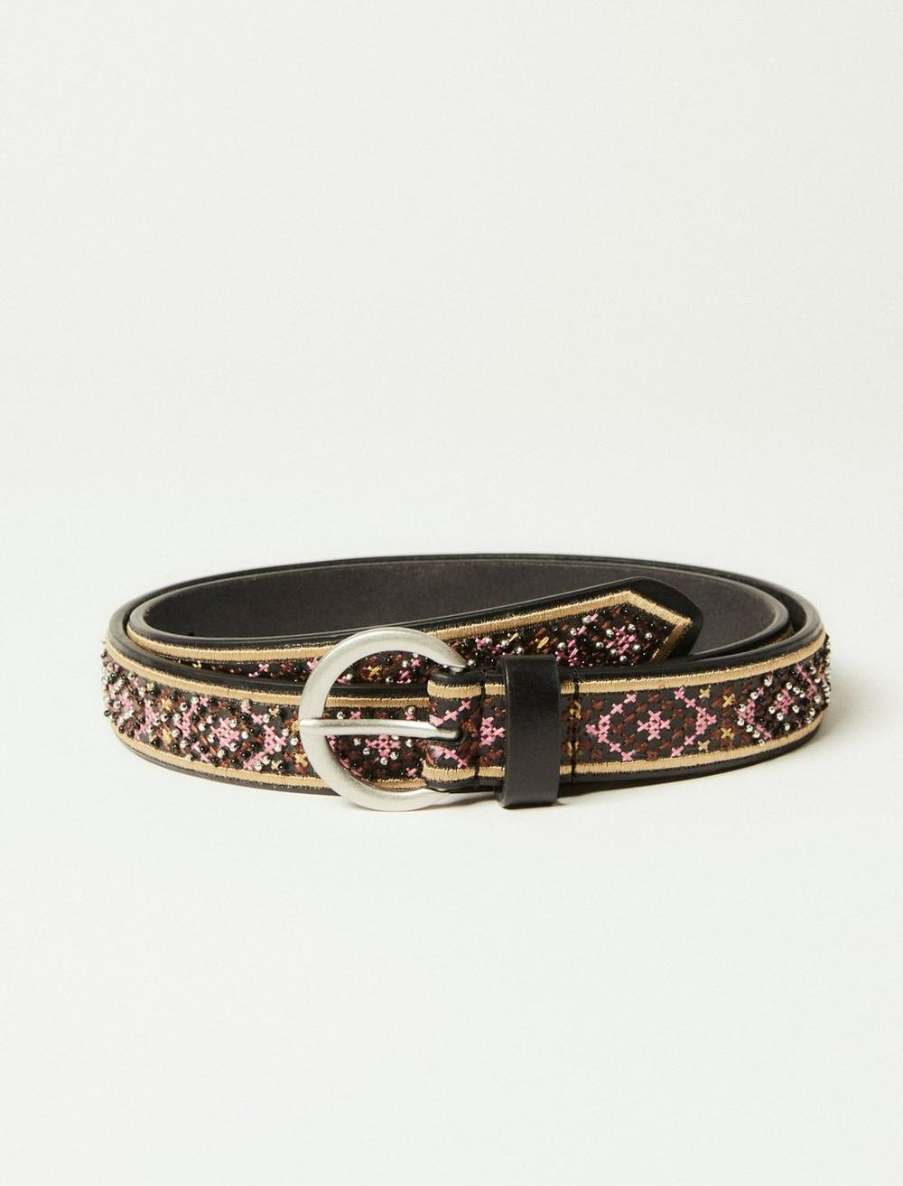MULTI COLORED GEO EMBROIDERY BELT, image 1