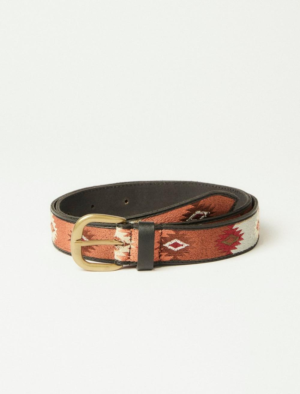 WESTERN EMBROIDERY LEATHER BELT, image 1