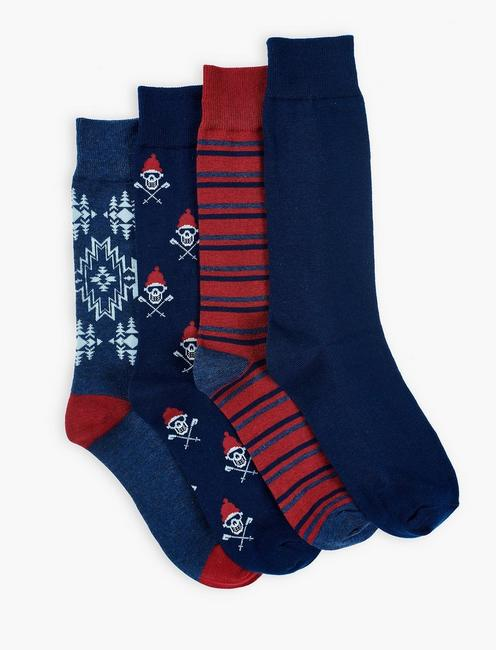 MENS SKI SKULL SOCKS,