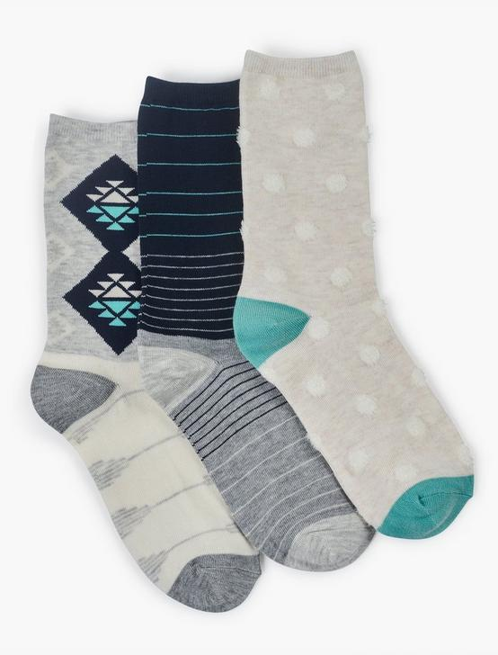 WOMENS DOT MULTI SOCKS, CRYSTAL, productTileDesktop