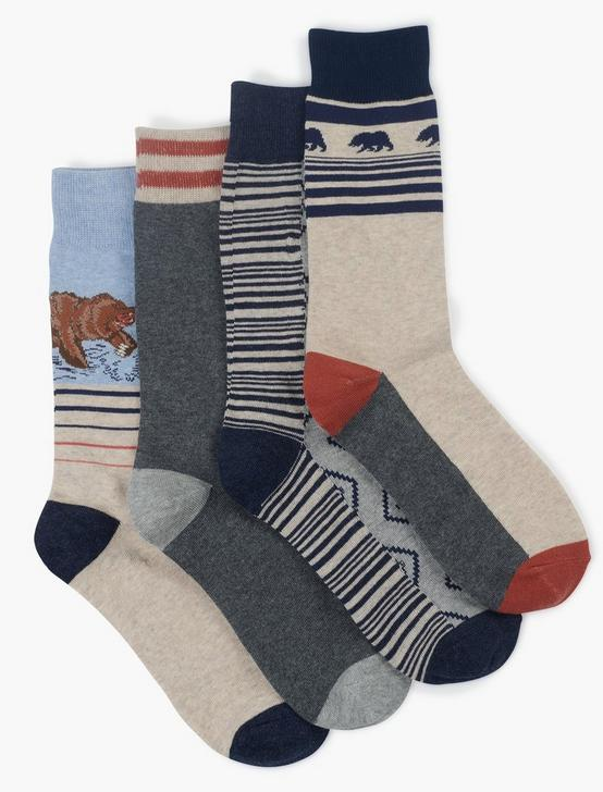 MENS SPRING BEAR SOCKS, OPEN OVERFLOW, productTileDesktop