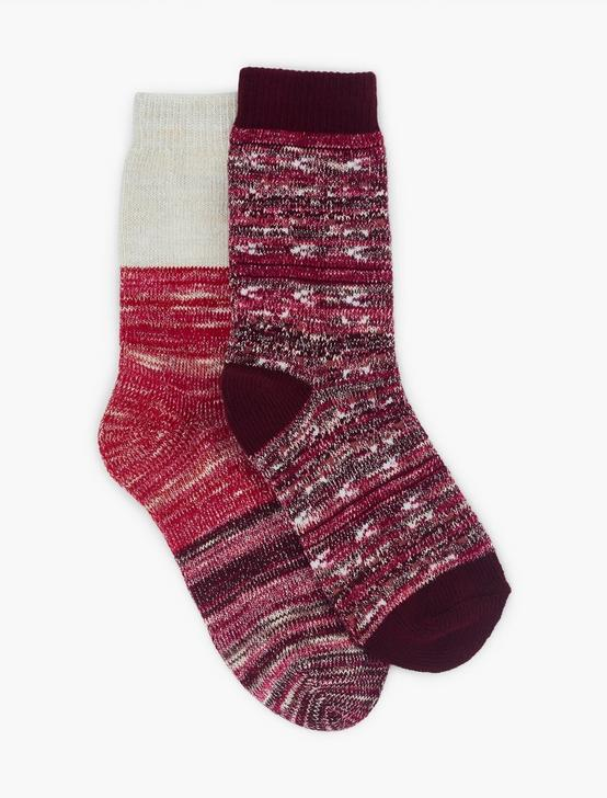 2PACK IKAT SLUB LUREX SOCKS