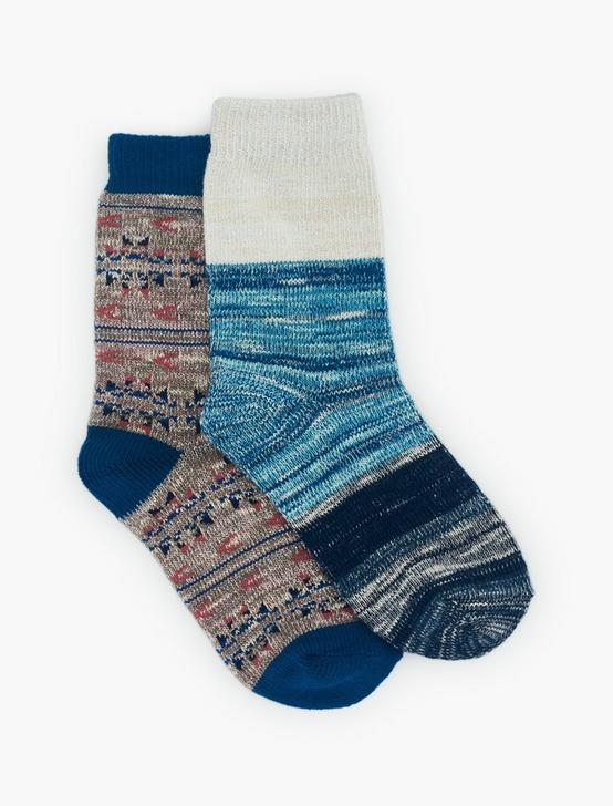 2PACK IKAT SLUB LUREX SOCK