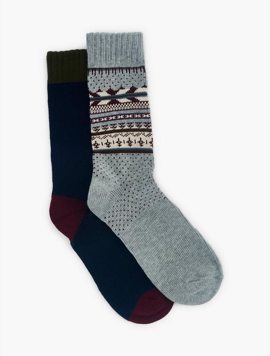 2PACK FAIR ISLE MENS CREW SOCKS, LUNAR ROCK, productTileDesktop