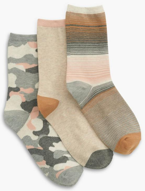 CAMO CREW MULTI SOCKS, LUNAR ROCK, productTileDesktop