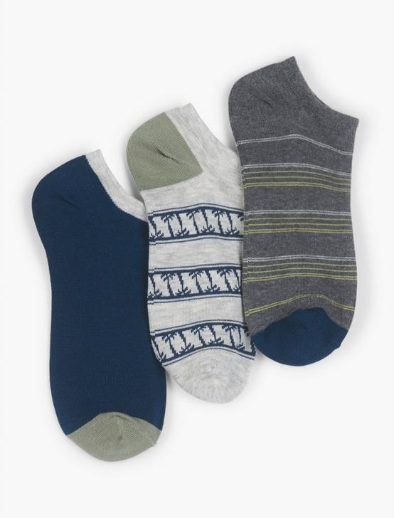 MENS 3 PACK PARADISE SOCK, LUNAR ROCK, productTileDesktop