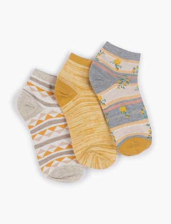 FLORAL STRIPE ANKLETS SOCKS, LUNAR ROCK, productTileDesktop