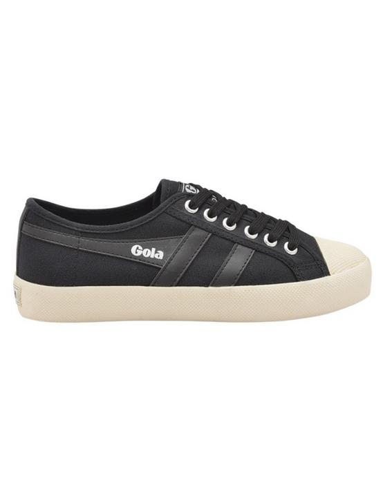 GOLA COASTER CANVAS SNEAKER, BLACK/WHITE, productTileDesktop