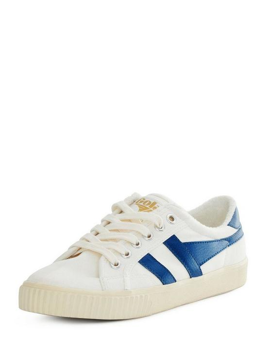 GOLA TENNIS MARK COX CANVAS SNEAKER, OFF WHITE / VINTAGE BLUE, productTileDesktop